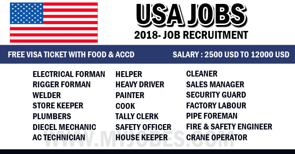 USA Jobs 2018 - Free Job Recruitment