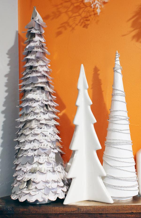 White DIY Christmas trees