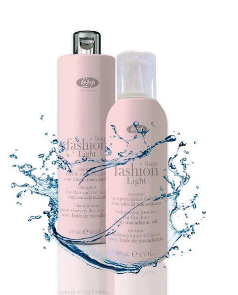 Lisap Fashion Light son dos productos especialmente desarrollados para  todos aquellos cabellos finos y sin brillo que buscan conseguir  hidratación b0294f402da2