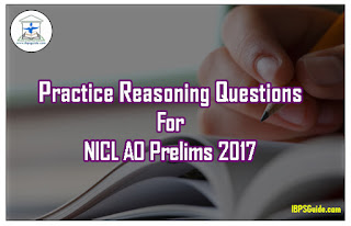 Practice Reasoning Questions For NICL AO Prelims 2017 (Seating Arrangement)