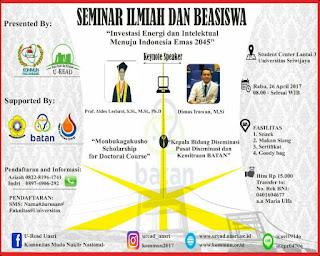KOMMUN Palembang: Seminar Ilmiah dan Beasiswa