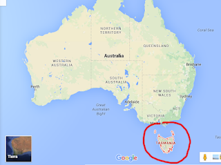 localizacion de Tasmania