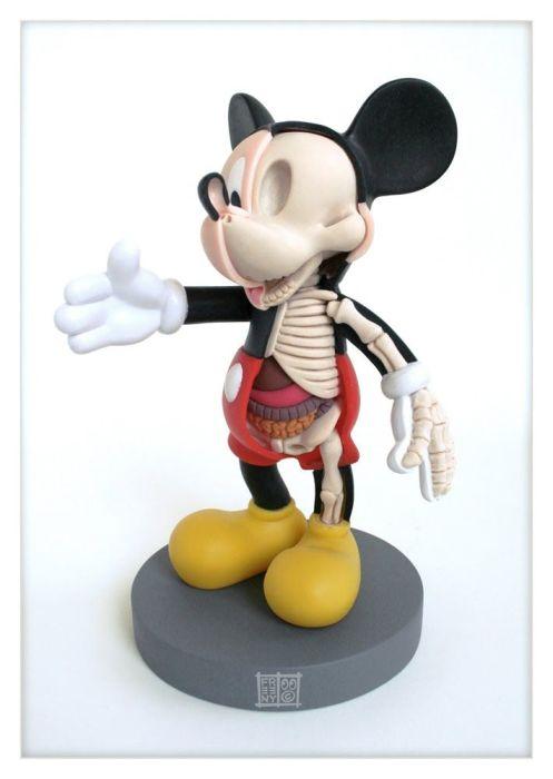 Artista faz simulação de como seria a anatomia de brinquedos de personagens famosos