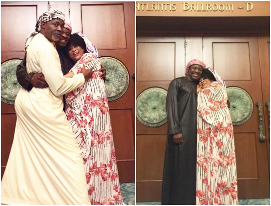 Beautiful photos of RMD, Ali Baba and Sola Sobowale locked in embrace