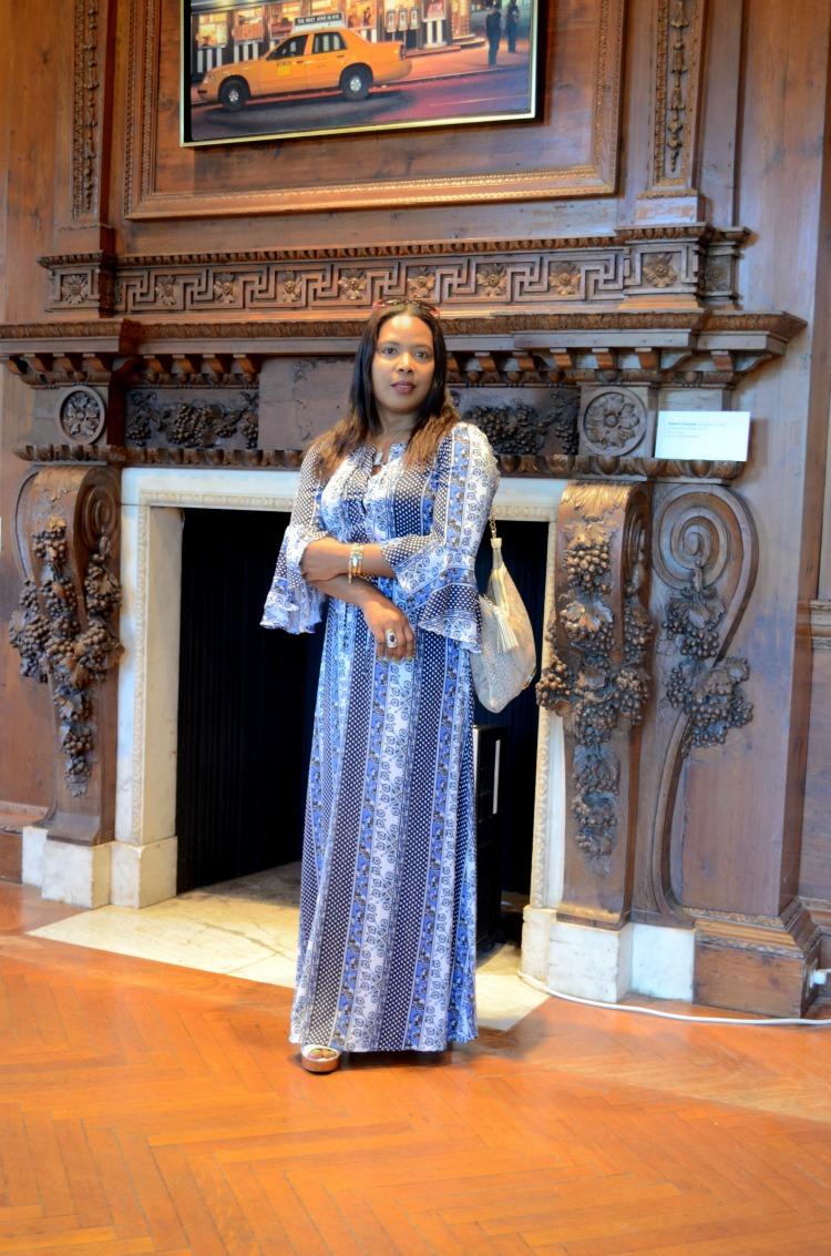 Nassau County Museum of Art - Roslyn, NY_Maxi Dress_Snakeskin foldover bebe bag_Lucky Brand Crochet Lace Wedges