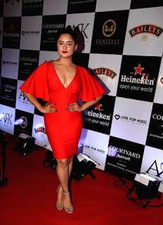 Rashmi deasi in lovely Deep Neck Red Dress Stunning Cute Beauty