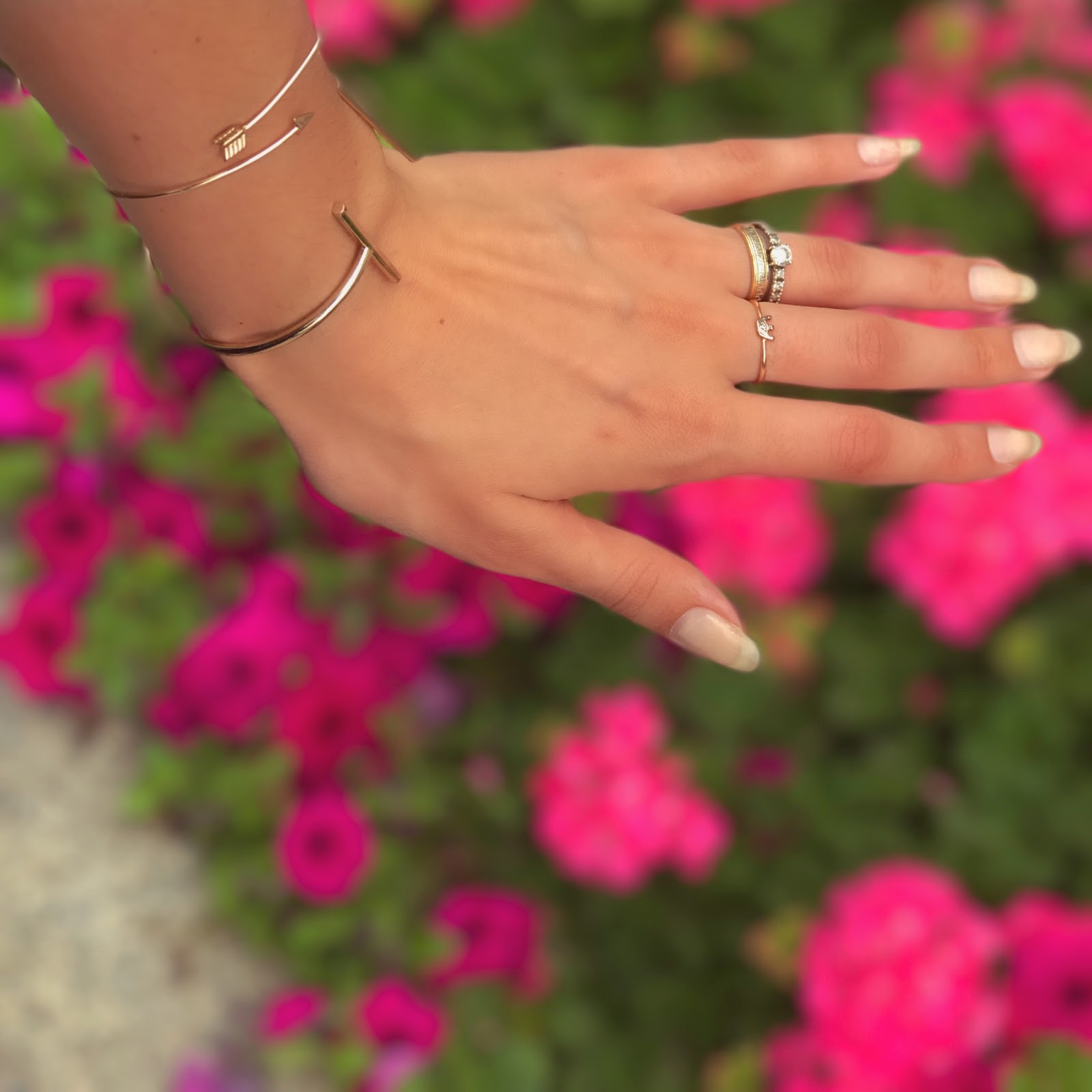 Jewelry and Pink Flowers