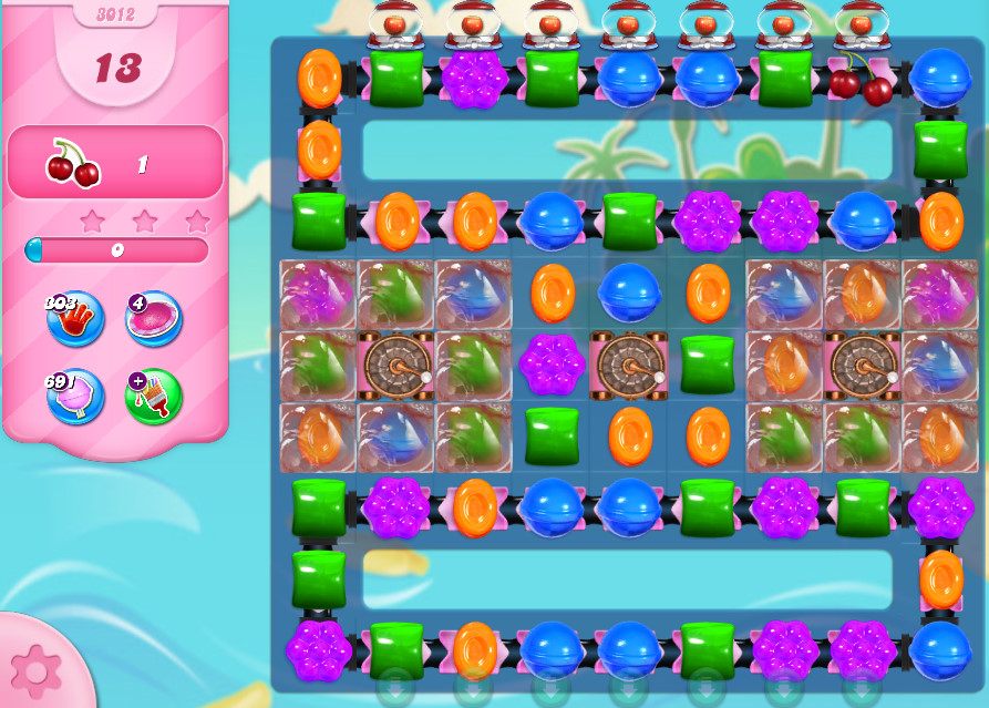 Candy Crush Saga level 3012