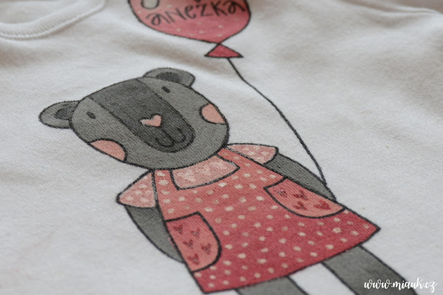 malované bodýčko medvídek