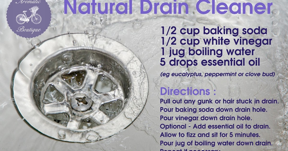 Aromatherapy For Australia Recipe  Natural Drain Cleaner