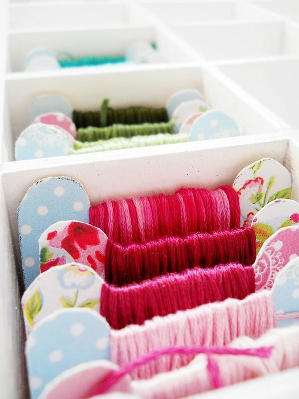 organised embroidery floss