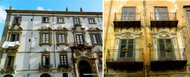 Fachadas do Centro Histórico de Palermo