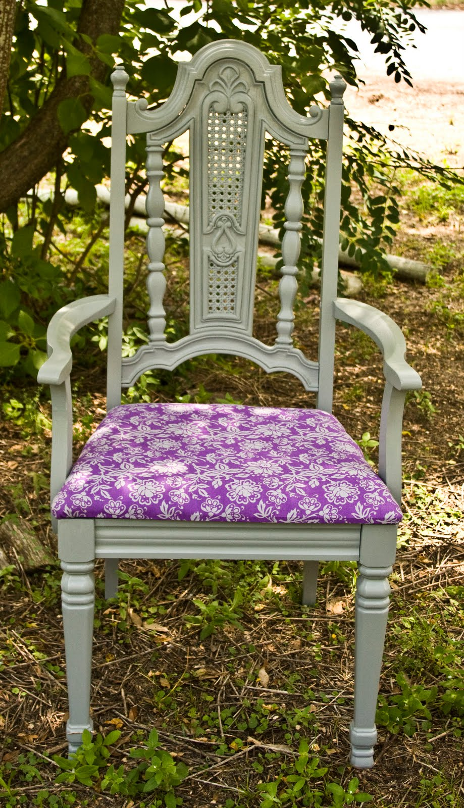Remarkable Modernly Shabby Chic Furniture Gray W Purple Fabric Accent Gamerscity Chair Design For Home Gamerscityorg
