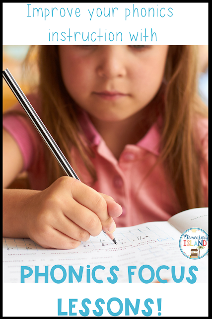 Phonics instruction needs to have a systematic approach to it.  Students need to be able to identify and apply the skill independently to have success in their writing.  These Phonics Focus sheets get to the core of instruction by practicing with each sound in a multiple of different ways.#phonicsactivities  #phonics #teachingphonics