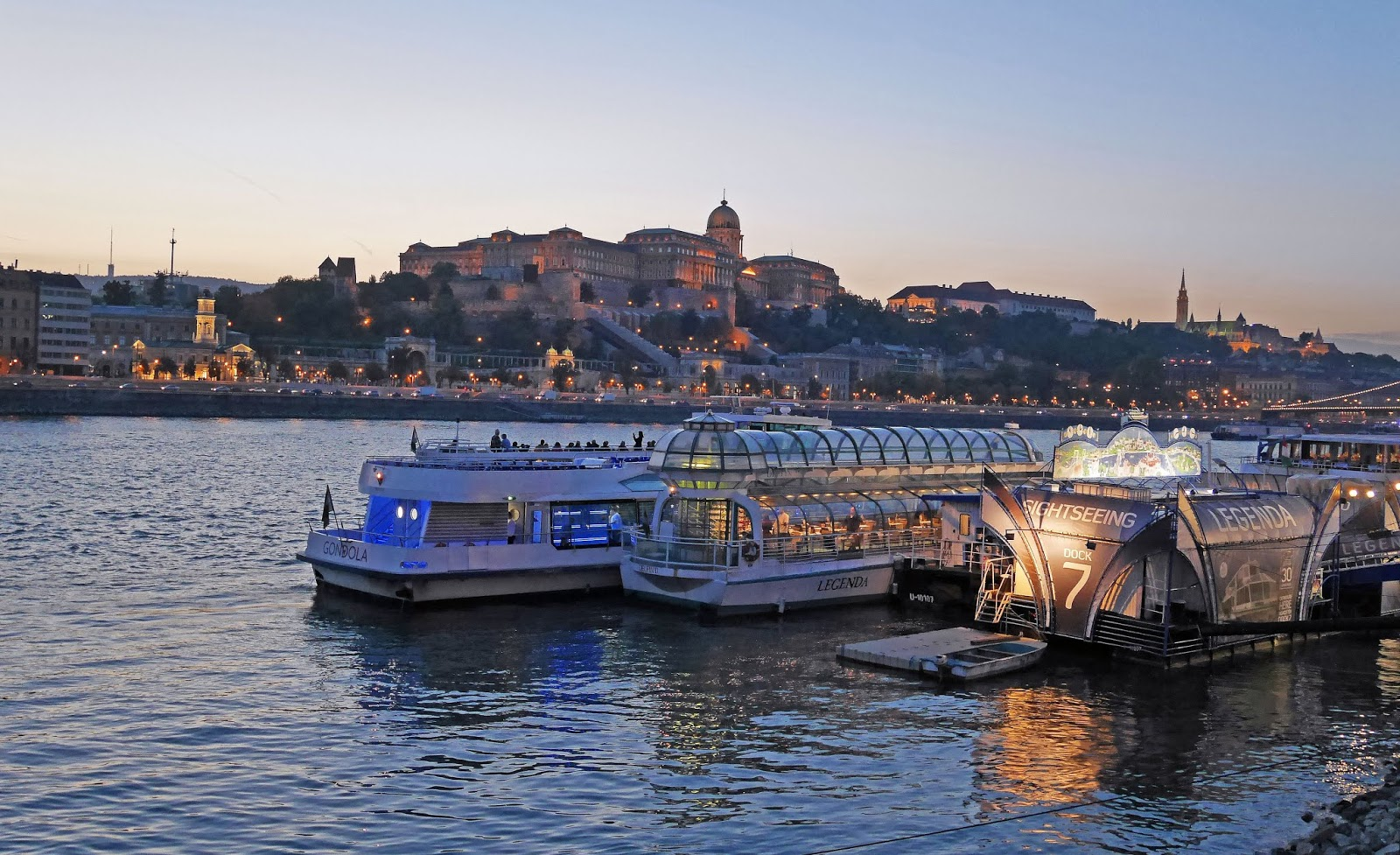 The boat dock for Legenda Cruises on the Danube, Budapest
