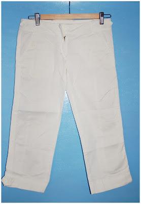 Pantaloni albi din denim subtire 9b47ca4ac6ab