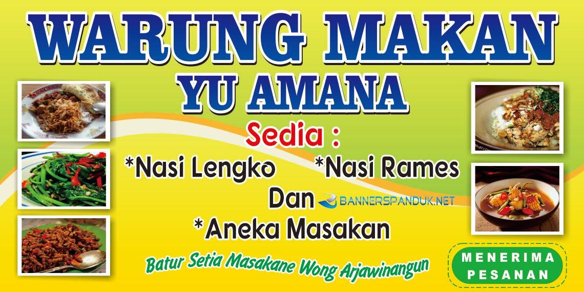 Contoh Banner Spanduk Warung Makan Nasi Yang Unik Dan Simple Cdr