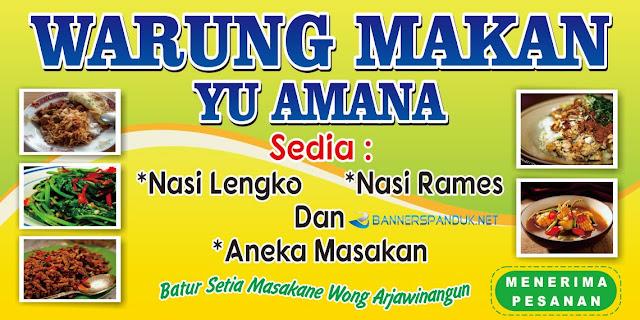 Contoh Banner Spanduk Warung Makan Yang Simple
