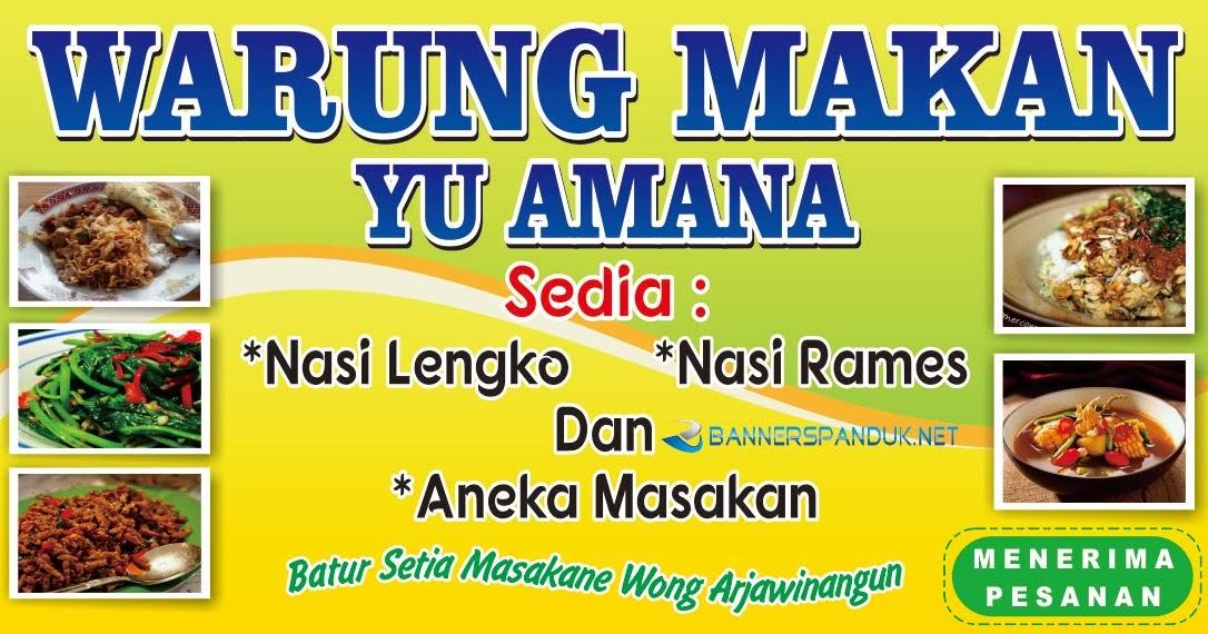Contoh Banner Spanduk Warung Makan Nasi Yang Unik dan ...
