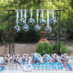 burlap bouquets for rustic wedding