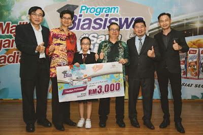biasiswa sekolah, #SayaSihat bersama Yeo's, program tajaan biasiswa, pemenang program tajaan biasiswa Yeo's