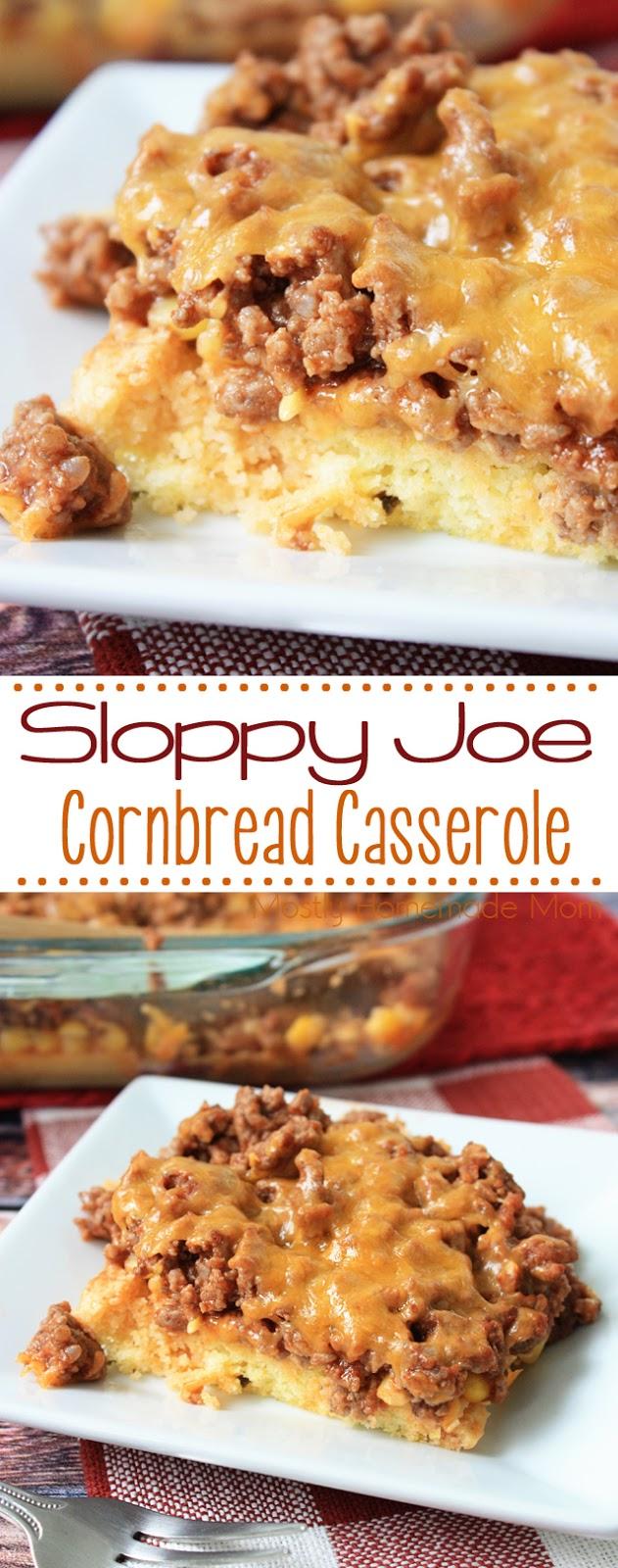 Cornbread Casserole with Sloppy Joes