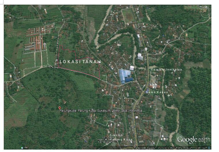 Jual Tanah Luas 19.975 m2 di Parungkuda,Sukabumi