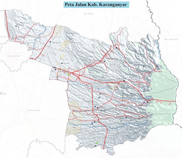 Peta Kabupaten Karanganyar HD
