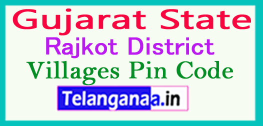 Rajkot District Pin Codes in Gujarat State