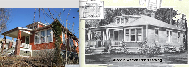 red house for sale at 6658 Chester Ave Stottville NY compared to Aladdin Warren