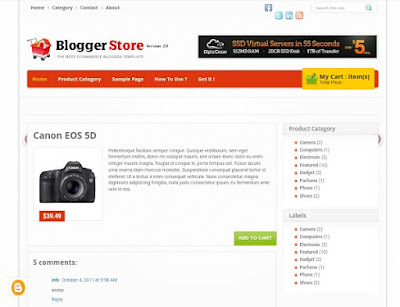 Download Blogger Store V.2 Template Blogger
