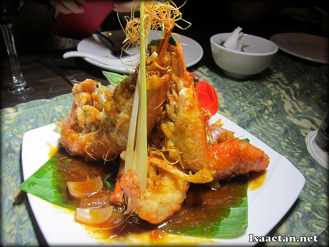 River Prawn with Lemongrass Sauce