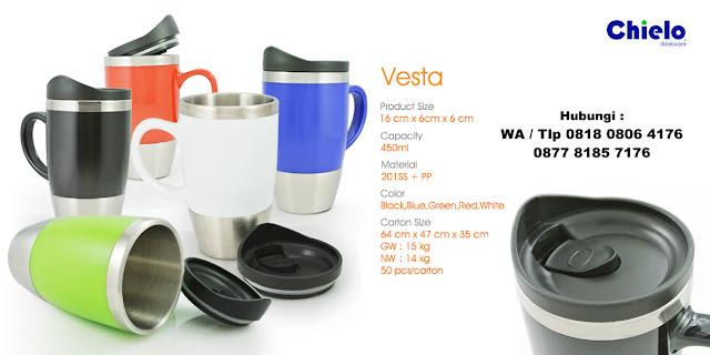 Tumbler Vesta - Jual tumbler promosi vesta bahan stainless