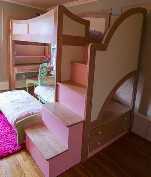 Modelos de camas literas para ni as ideas para decorar for Alcobas infantiles para nina