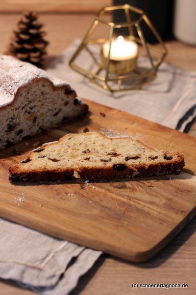 Rezept für einen klassischen selbst gebackenen Christstollen