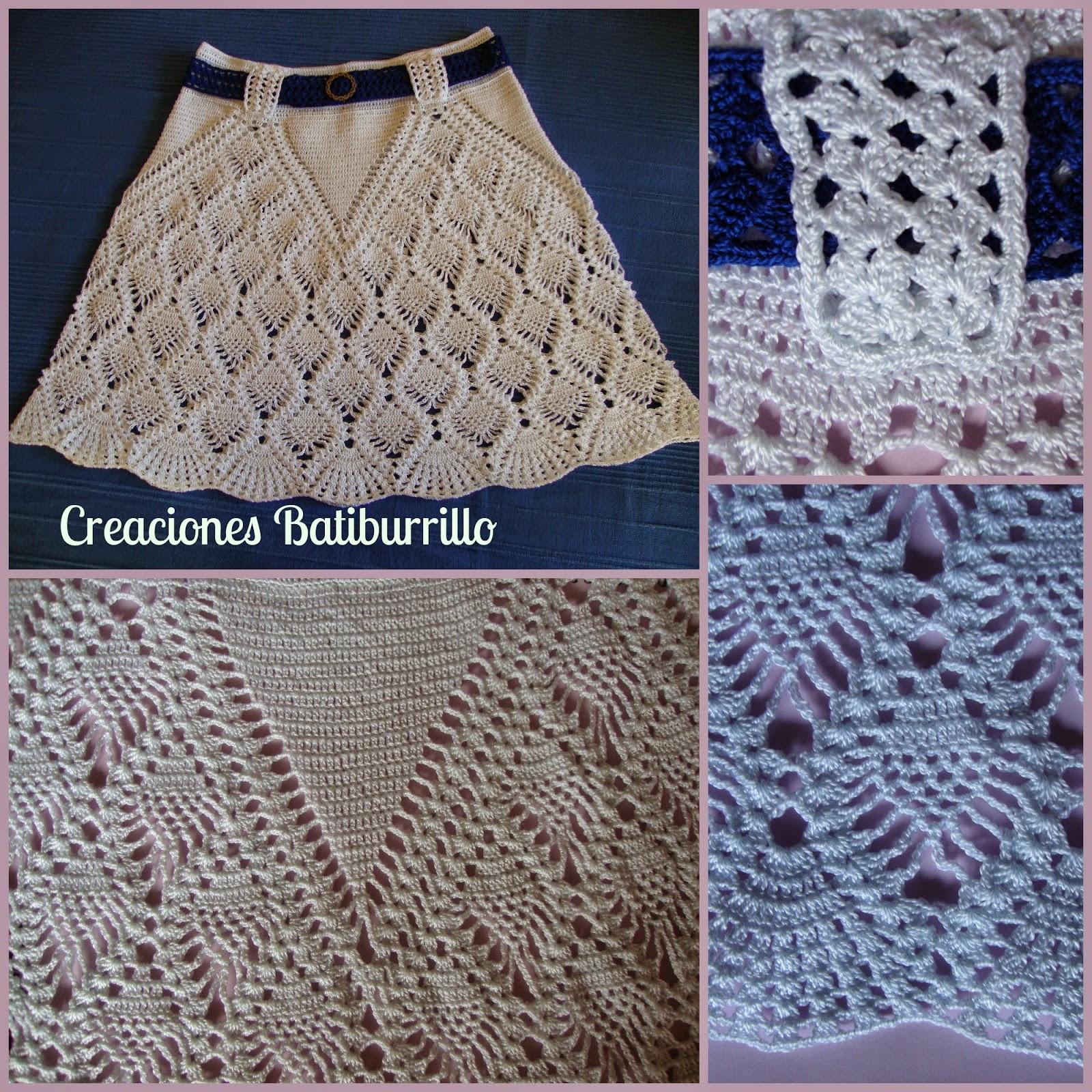 7cd1287de Faldas Para Dama En Crochet   Wig Elegance