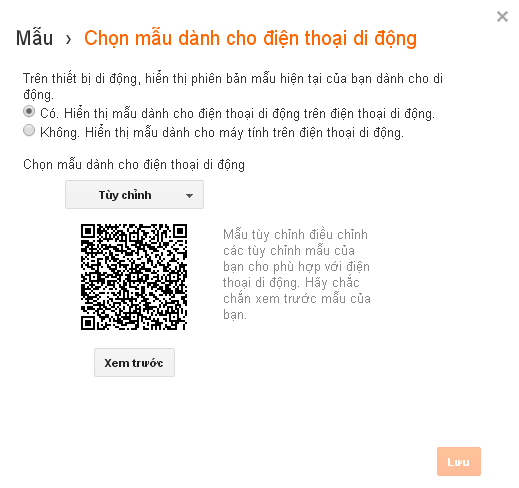 Hướng dẫn xây dựng và tùy chỉnh giao diện mobile trên blogspot