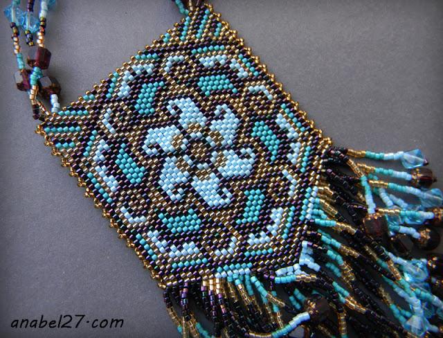 купить авторские украшения в стиле бохо колье из бисера