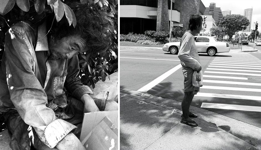 """I had been searching for my father for weeks and finally found him sitting behind a dumpster, tucked under a bush for shade"" -  After 10 Years Of Photographing Homeless People, Photographer Discovers Her Own Father Among Them"