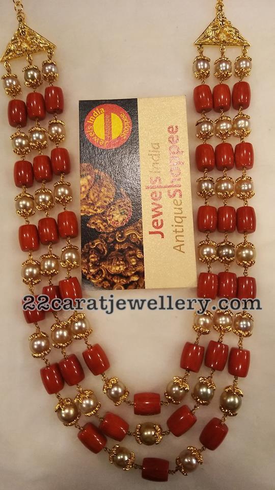 Coral Beads Long Set 1.5 Lakhs