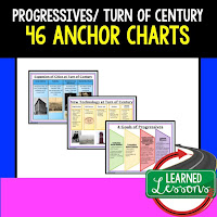Progressives Anchor Charts, American History Anchor Charts, American History Classroom Decor, American History Bulletin Boards, ESL Activities, ELL Activities, ESS Activities