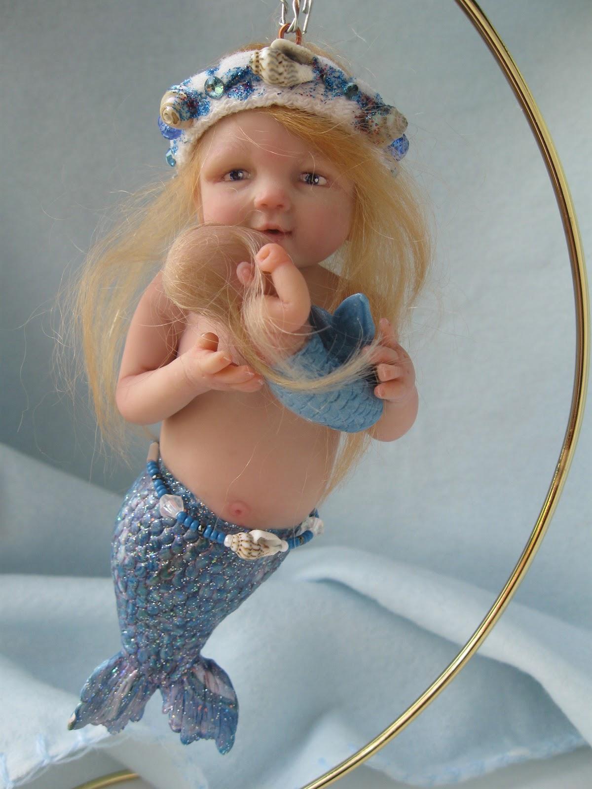 One Of A Kind Art By Catherine Ooak Mermaid Baby Ornament