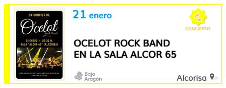 Ocelot Rock Band en la Sala Alcor 65 de Alcorisa