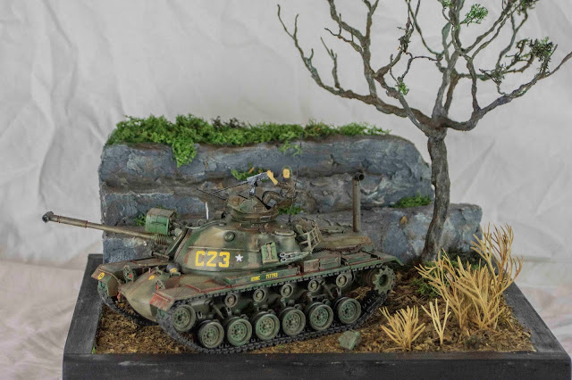 1/35 scale Patton tank diorama