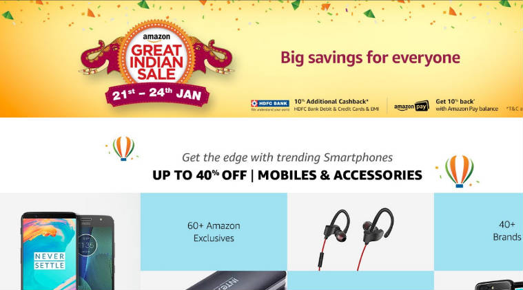 Amazon Sale From 20 to 24 jan 2018