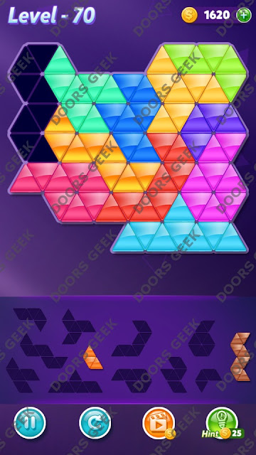 Block! Triangle Puzzle Challenger Level 70 Solution, Cheats, Walkthrough for Android, iPhone, iPad and iPod