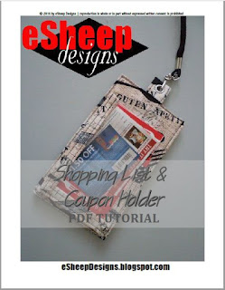 Shopping List & Coupon Holder by eSheep Designs