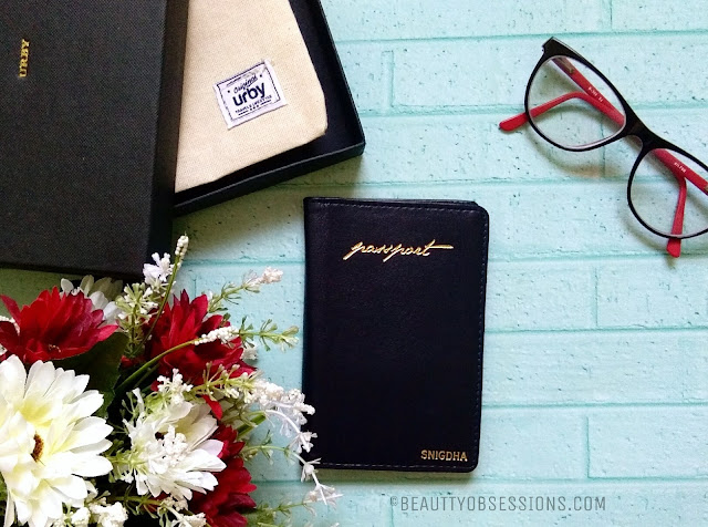Urby customised passport holder