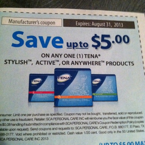 tena coupon printable