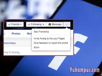 cara memblokir facebook orang lain